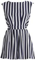New Look BETHANY STRIPE TIE FRONT Jumpsuit blue