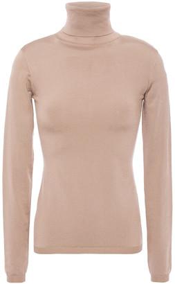 Valentino Silk-blend Turtleneck Top