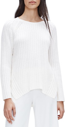 Eileen Fisher Round Neck Ribbed Pullover