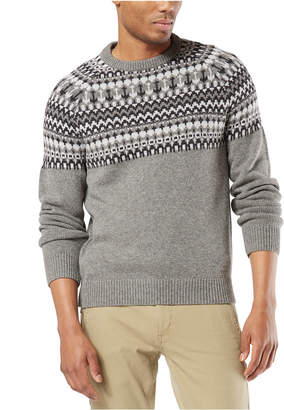 Dockers Men Alpha Chunky Fair Isle Sweater