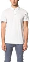 Vince Mixed Stitch Polo Shirt