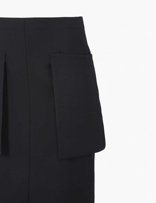 The Row Jenna high-waist wool-blend midi skirt
