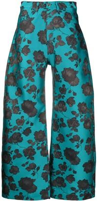 Marques Almeida Floral Wide Leg Trousers