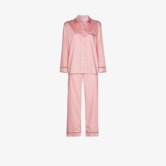 POUR LES FEMMES Cotton Sateen Pyjamas