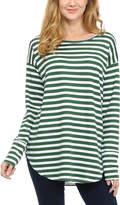 Magic Fit Green & White Stripe Tunic