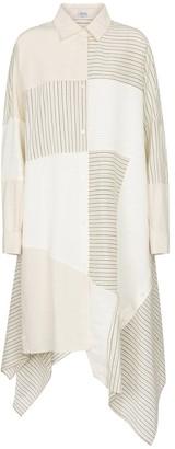 Loewe Patchwork linen-blend shirt dress