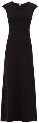 Totême Cap-sleeve Knit Maxi Dress - Black