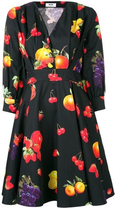 MSGM fruit print dress