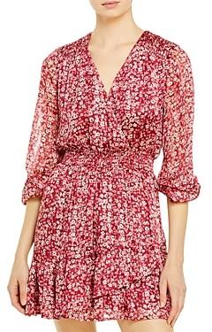 Aqua Ditsy Floral Faux Wrap Dress - 100% Exclusive