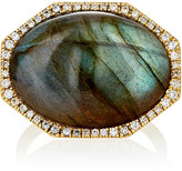 Monique Péan Women's White Diamond & Labradorite Cabochon Ring