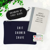 Paper Plane Personalised Shit, Shower, Shave Men's Travel Gift Set