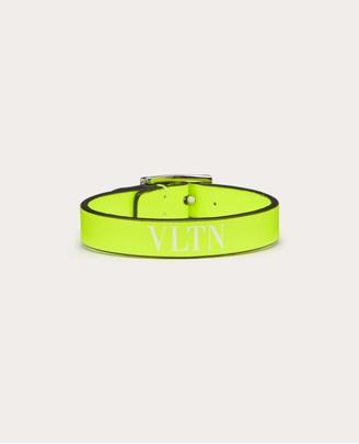 Valentino Garavani Uomo Vltn Neon Bracelet Man Fluorescent Green 100% Pelle Bovina - Bos Taurus OneSize