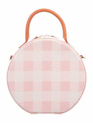 Mansur Gavriel Gingham Printed Circle Bag Pink