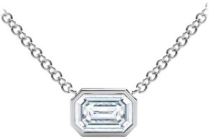 Forevermark Tribute Collection Diamond (1/2 ct. t.w.) Necklace with Mill-Grain in 18k Yellow, White and Rose Gold