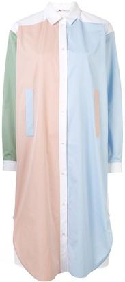 Ports 1961 Colour-Block Shirt Dress