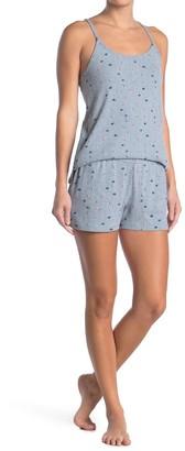 Lucky Brand Floral Print Cami & Split Shorts Pajama 2-Piece Set