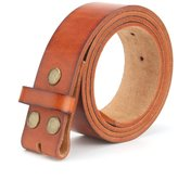 "KUAK Men's Belts Vintage 100% Full Grain Leather 1 1/2"" wide"