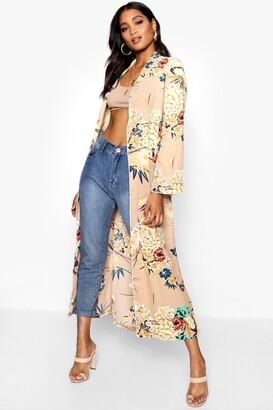 boohoo Premium Floral Print Kimono