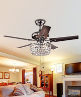 Angel Crystal Chandelier Ceiling Fan