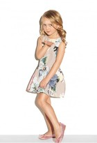 Milly Minis Paper Floral Dropwaist Party Dress