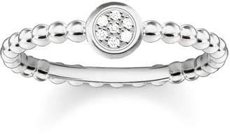 Thomas Sabo Women-Ring Glam & Soul 925 Sterling Silver diamond pave white Size 54 (17.2) D_TR0004-725-14-54