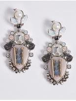 M&S Collection Diamanté Shield Drop Earrings