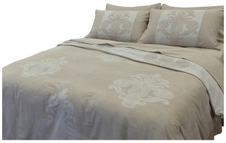 Natural Comfort Yue Home Textile Yarn-Dyed Linen Cotton Duvet Cover Set, Pineapple, Du