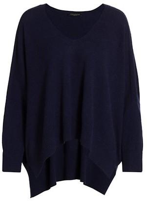 Piazza Sempione Cashmere V-Neck Knit Sweater