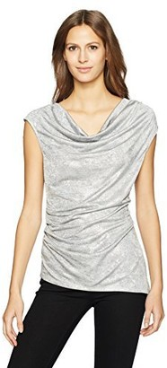 Calvin Klein Women's Sleeveless Metallic Snake Foil