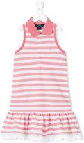 Ralph Lauren striped ruffled dress - kids - Cotton - 2 yrs