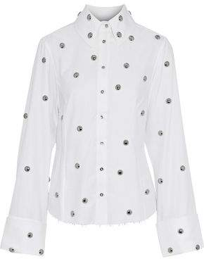 Marques Almeida Marques' Almeida Studded Cotton-Twill Shirt