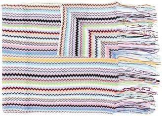 Missoni Knitted Zigzag Pattern Scarf