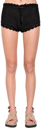 Alberta Ferretti Cotton Crochet Shorts