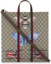 Gucci Insect print GG Supreme canvas tote