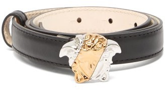 Versace Medusa-buckle Leather Belt - Black