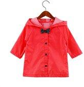 Zhuhaixmy Child Cute Bow Raincoat Kids Rainsuit Baby Boys Girl Rainwear Poncho Hooded