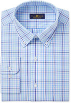 Club Room Men's Estate Classic/Regular Fit Wrinkle Resistant Blue Mint Check Dress Shirt, Only at Macy's