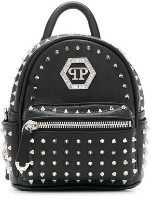 Philipp Plein Hexagon Crystal studded backpack
