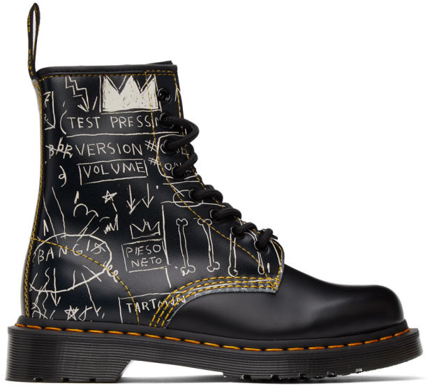 Dr. Martens Black Jean-Michel Basquiat Edition 1460 Boots