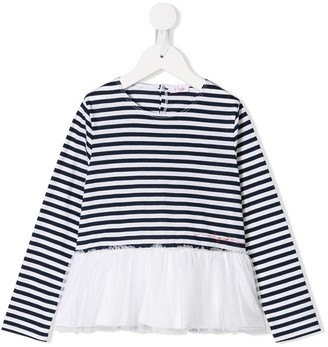 Il Gufo Striped Long-Sleeve Top
