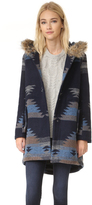 BB Dakota Dalley Tribal Pattern Hooded Coat