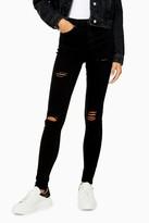 Topshop Black Super Rip Jamie Skinny Jeans
