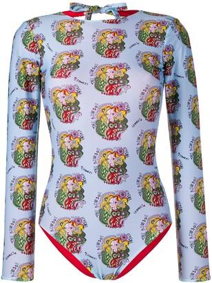 La DoubleJ Long-Sleeve Bodysuit Top