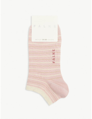 Falke Glitter stripe cotton-blend trainer socks