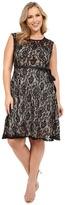 Christin Michaels Plus Size Faith Lace Sleeveless Dress