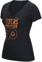 Reebok Women's Philadelphia Flyers Block Rhinestone T-Shirt