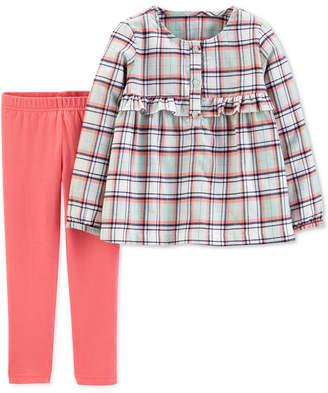 Carter's Carter Toddler Girls 2-Pc. Plaid Flannel Top & Leggings Set
