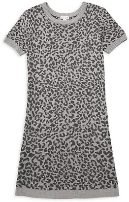 Splendid Girl's Leopard Print Sweater Dress