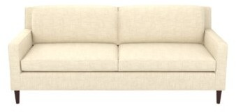 """Thumbnail for your product : Winston Porter Auvray 80.5"""" Square Arm Sofa with Reversible Cushions Fabric: Silt Polyester Blend, Leg Color: Montana Walnut"""