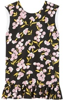 Marni Printed Cotton And Silk Peplum Top